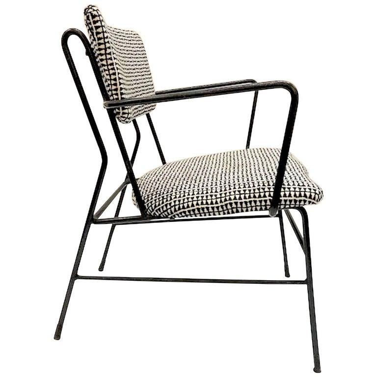 1950s Italian Iron Armchair