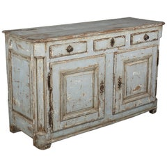 18th Century Country French Painted Buffet