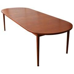 "Teak Nils Jonsson Oval Two-Leaf Dining Table ""Ove"" Model for Troeds Bjarum"