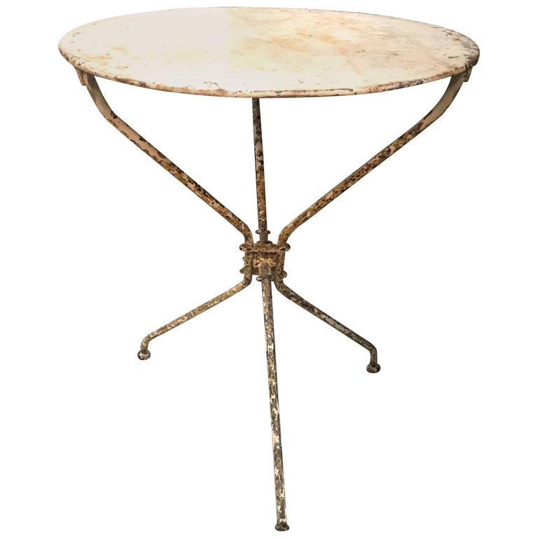 French Iron Bistro or Garden Table For Sale