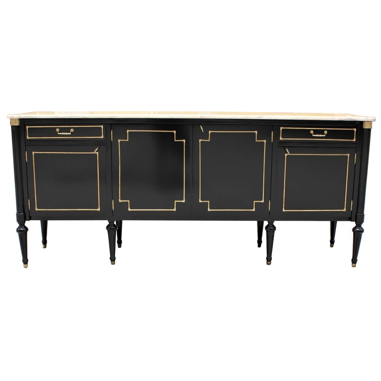 Long French Louis XVI Style Antique Sideboard or Buffet