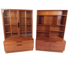 Scandinavian Modern Teak Bookcase by Ib Kofod Larsen for Faaruup