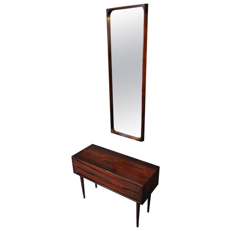 Arne Vodder Chest of Drawers and Mirror For Sale