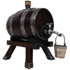 English Spirit Liquor Dispenser Cask Barrel