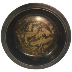 Modernist Art Deco Inlaid Bowl by Just Andersen