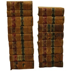 "Turn of the Century Leather Bound ""Encyclopedia of Law"" Books, circa 1901-1906"