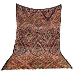 Vintage Moroccan Wool Rug Talsint, circa 1980