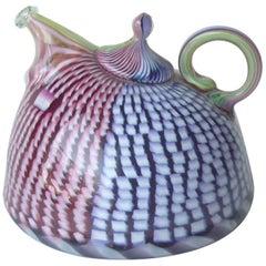 Richard Marquis Studio Teapot Glass Sculpture, Signed, Dated