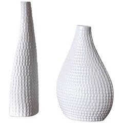 Ceramic Vases Model Reptil Designed by Stig Lindberg, Set of Two