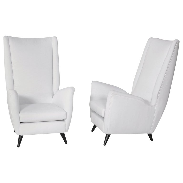 Pair of Gio Ponti Armchairs For Sale