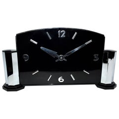 Impressively Large Art Deco Modernist English Mantle Clock, circa 1930