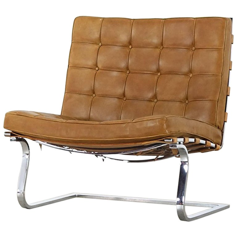 Mies van der Rohe Tugendhat Lounge Chair MR 70 for Knoll International