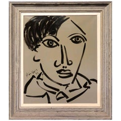 Peter Keil Expressionist Portrait Oil Painting of Pablo Picasso