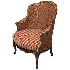 Magnificent Caned and Giltwood French Armchair