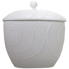 Michaela Frey for AK Kaiser Midcentury Lidded Bisque Porcelain Jar, 1960s