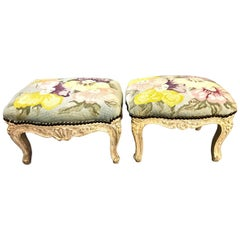 Louis XV 18th Century Footstools, Pair