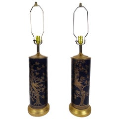 Pair of Powder Blue Porcelain Lamps