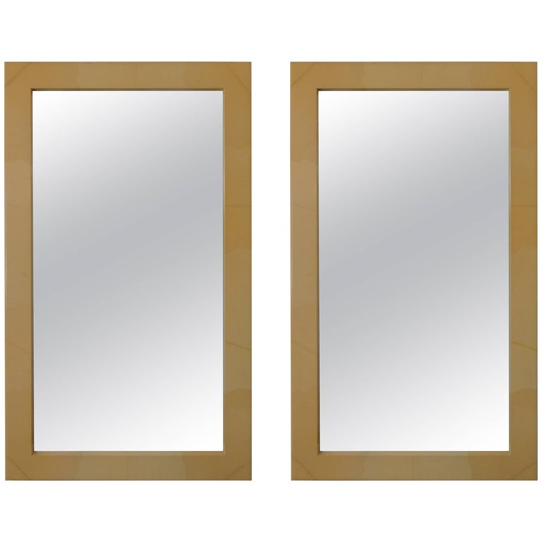 Pair of Midcentury Faux Painted Mirrors