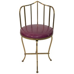 Solid Brass Swivel Vanity Chair