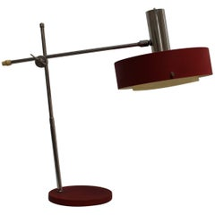 Red Desk Lamp with Diffuser, 1960s, Germany