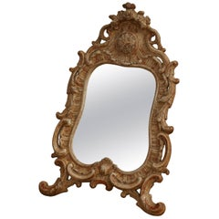 Rococo Table Mirror, Origin, Stockholm, Sweden, circa 1750