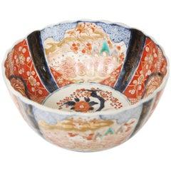 Meiji Period Scalloped Imari Bowl