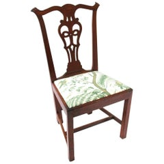 18th Century Rhode Island Chippendale Mahogany Side Chair
