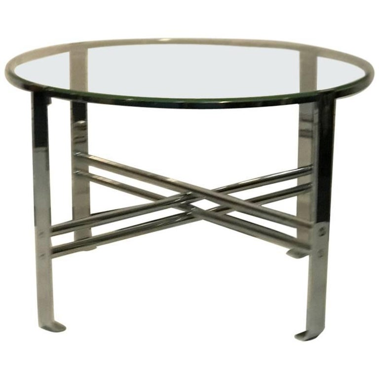 Deco Chrome Coffee Table: Art Deco Bauhaus Style Desk By Wolfgang Hoffmann In Black