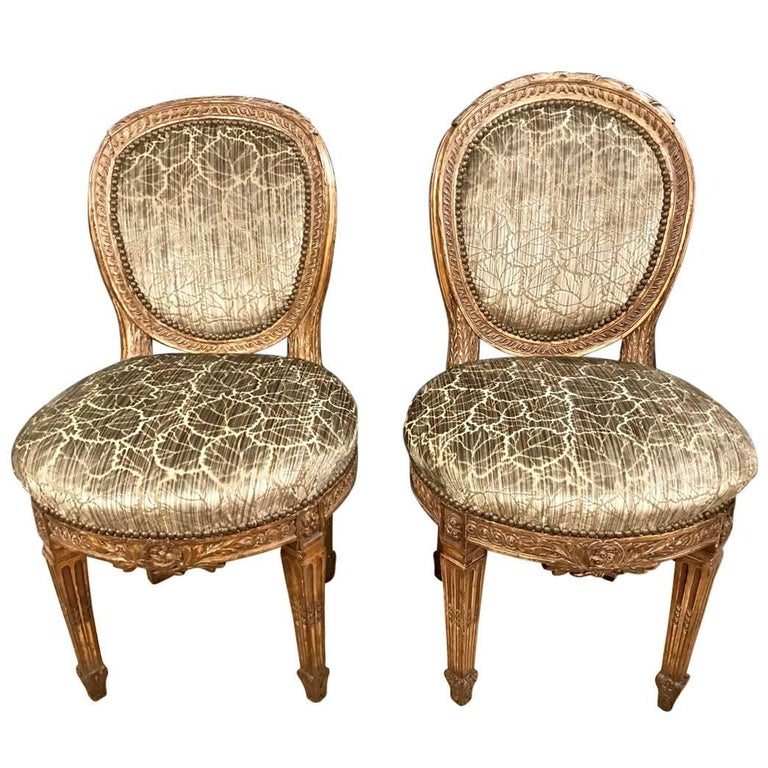 Late 18th Century Directoire Side Chairs, Pair