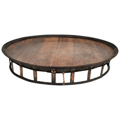 Large Bamboo and Rattan Basket Table or Tray, Laos, Mid-Late 20th Century