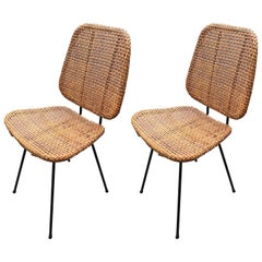 Pair of Caned Chairs from the 1950s