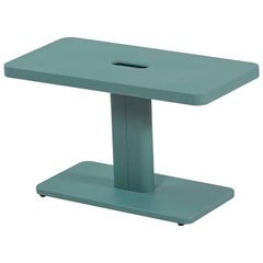 Azur Outdoor Side Table in Sage Green by Frederic Gaunet & Tolix