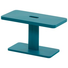 Azur Outdoor Side Table in Teal by Frederic Gaunet & Tolix