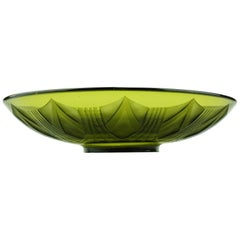 French Art Deco Legras Acid-Etched Glass Coupe