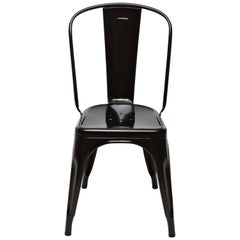 A-Chair in Glossy Black by Xavier Pauchard & Tolix