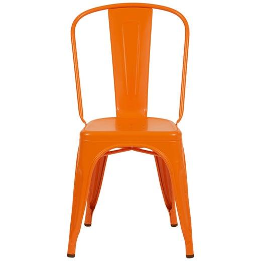 Chair in Glossy Orange by Xavier Pauchard & Tolix