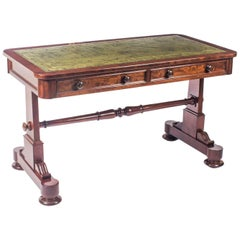 Antique William IV Writing Library Table Johnstone and Jeanes, 19th Century