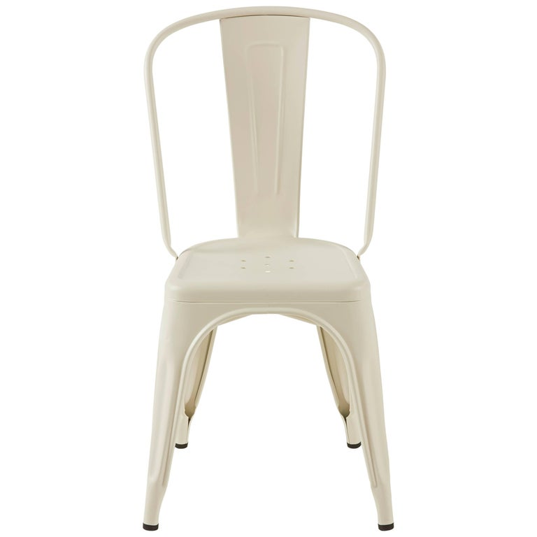 A-Chair in Matte Ivory by Xavier Pauchard & Tolix