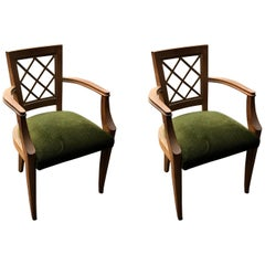 Pair of Oak Bridge Chairs