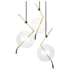 Nuvola Three Lights Sculptural Minimalist Chandelier / Pendant