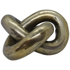 Interlaced Chain Paperweight Sculpture