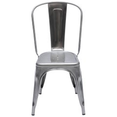 A-Chair in Glossy Silver by Xavier Pauchard & Tolix