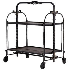 1950s French Wrought Iron and Brass Metamorphic Trolley