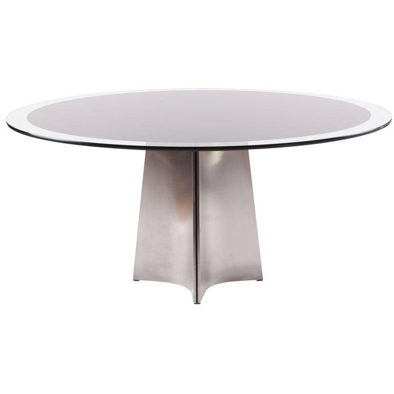 Luigi Saccardo Round Dining Table for Maison Jansen, 1970s