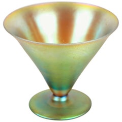 Art Deco Iridescent Glass Goblet by WMF, Germany, circa 1925