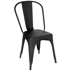 A-Chair in Matte Black by Xavier Pauchard & Tolix