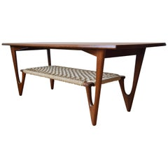 Danish Midcentury Atomic Coffee Table by Kurt Ostervig, 1953