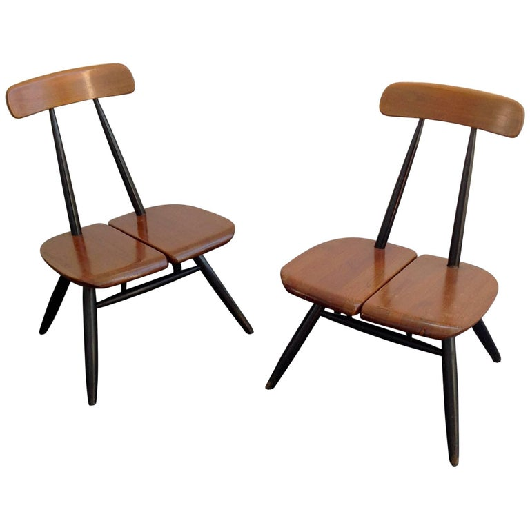 Easy Chairs by Ilmari Tapiovaara for Laukaan Puu, 1950s, Set of Two