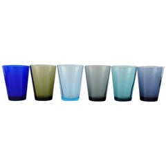 Kaj Franck Nuutajärvi Glass Works, Six Drinking Glasses