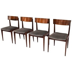 Four Danish Dining Chairs in Brazilian Rosewood, 1950s